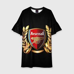 Платье клеш для девочки Arsenal цвета 3D — фото 1