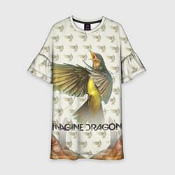 Платье клеш для девочки Imagine Dragons: Fly цвета 3D-принт — фото 1