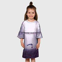 Платье клеш для девочки Imagine Dragons: Silence цвета 3D-принт — фото 2