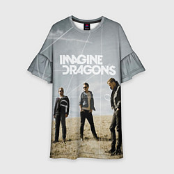 Платье клеш для девочки Imagine Dragons: Boys цвета 3D-принт — фото 1
