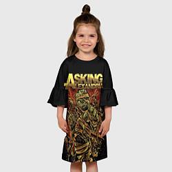 Платье клеш для девочки Asking Alexandria цвета 3D — фото 2