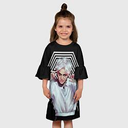 Платье клеш для девочки EXO Geometry цвета 3D-принт — фото 2