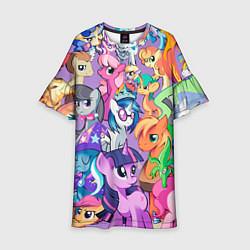 Платье клеш для девочки My Little Pony цвета 3D-принт — фото 1