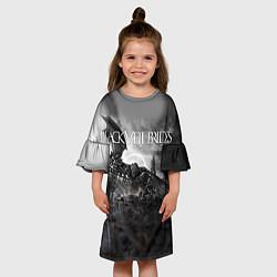 Платье клеш для девочки Black Veil Brides: Faithless цвета 3D-принт — фото 2