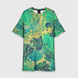 Детское платье Узор из листьев