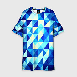 Детское платье Синяя геометрия