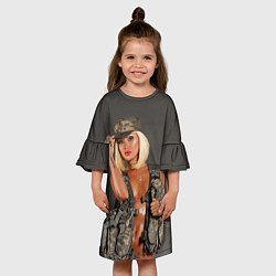 Платье клеш для девочки Девушка в форме цвета 3D — фото 2