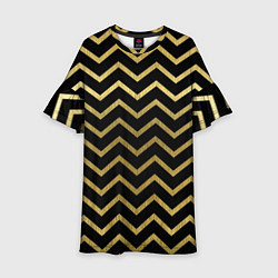 Платье клеш для девочки Узор цвета 3D — фото 1