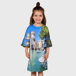 Платье клеш для девочки Италия цвета 3D — фото 2