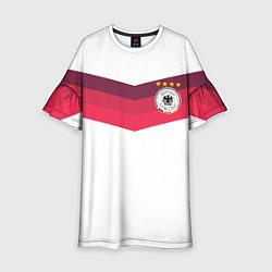 Платье клеш для девочки Сборная Германии по футболу цвета 3D — фото 1