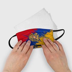 Маска для лица детская Герб и флаг Армении цвета 3D-принт — фото 2