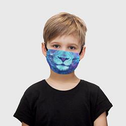 Детская защитная маска с принтом Space Lion, цвет: 3D, артикул: 10139271505919 — фото 1