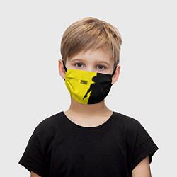Детская маска для лица PUBG: Yellow Shadow
