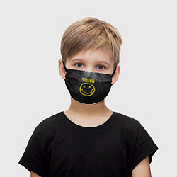 Маска для лица детская Nirvana Smoke цвета 3D-принт — фото 1
