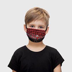Маска для лица детская Pink Floyd Pattern цвета 3D-принт — фото 1