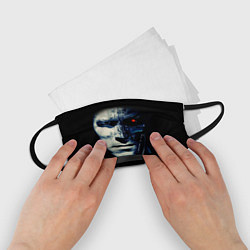 Маска для лица детская Взгляд Терминатора цвета 3D-принт — фото 2