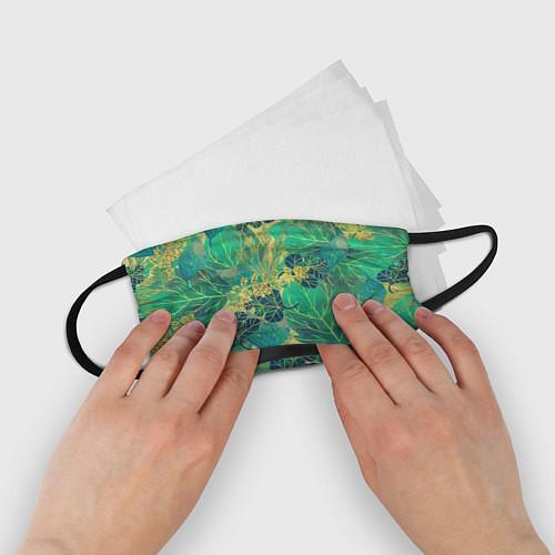 Детская маска для лица Узор из листьев / 3D – фото 2