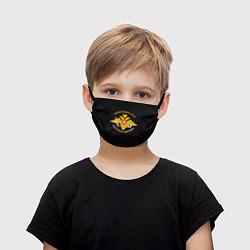 Детская маска для лица ВС России: вышивка