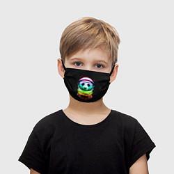 Маска для лица детская Панда космонавт цвета 3D — фото 1