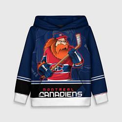 Толстовка-худи детская Montreal Canadiens цвета 3D-белый — фото 1