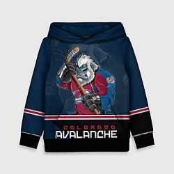 Толстовка-худи детская Colorado Avalanche цвета 3D-черный — фото 1