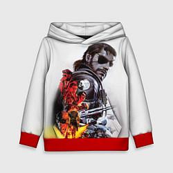 Толстовка-худи детская Metal gear solid 2 цвета 3D-красный — фото 1