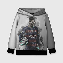 Толстовка-худи детская Lionel Messi цвета 3D-черный — фото 1