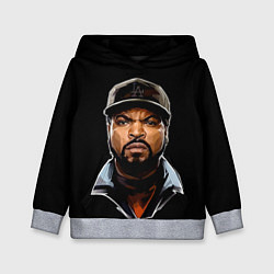 Толстовка-худи детская Ice Cube цвета 3D-меланж — фото 1