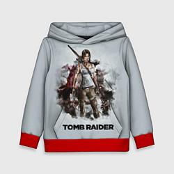 Толстовка-худи детская TOMB RAIDER цвета 3D-красный — фото 1