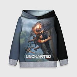 Толстовка-худи детская Uncharted: The Lost Legacy цвета 3D-меланж — фото 1