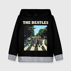 Толстовка-худи детская The Beatles: Abbey Road цвета 3D-меланж — фото 1