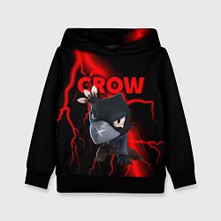 Толстовка-худи детская Brawl Stars CROW цвета 3D-черный — фото 1