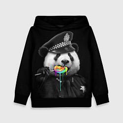 Толстовка-худи детская Панда с карамелью цвета 3D-черный — фото 1