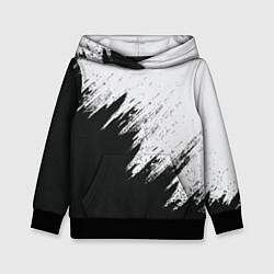 Толстовка-худи детская Черно-белый разрыв цвета 3D-черный — фото 1