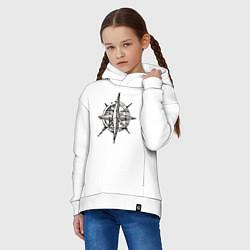 Детская хлопковая толстовка оверсайз с принтом Pirats, цвет: белый, артикул: 10010937006093 — фото 2