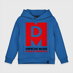 Толстовка оверсайз детская Depeche Mode: Black Celebration цвета синий — фото 1
