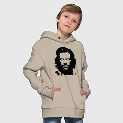 Толстовка оверсайз детская Che House цвета миндальный — фото 2