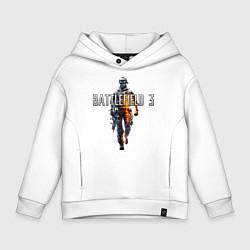 Толстовка оверсайз детская Battlefield 3 цвета белый — фото 1