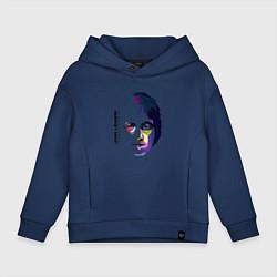 Толстовка оверсайз детская John Lennon: Techno цвета тёмно-синий — фото 1