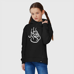 Толстовка оверсайз детская Jah Khalib цвета черный — фото 2
