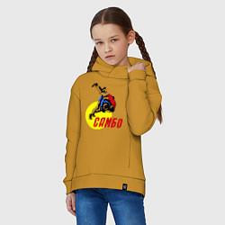 Толстовка оверсайз детская Спортивное самбо цвета горчичный — фото 2