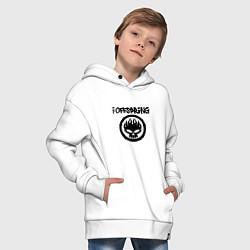 Толстовка оверсайз детская The Offspring цвета белый — фото 2