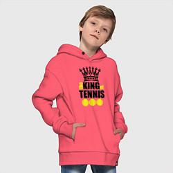 Толстовка оверсайз детская King of tennis цвета коралловый — фото 2