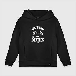 Толстовка оверсайз детская That's Who Loves The Beatles цвета черный — фото 1