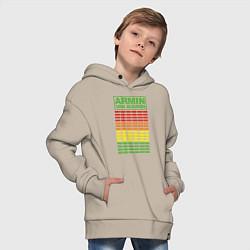 Толстовка оверсайз детская Armin van Buuren: EQ цвета миндальный — фото 2