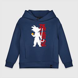 Толстовка оверсайз детская Dragon Ball Goku цвета тёмно-синий — фото 1