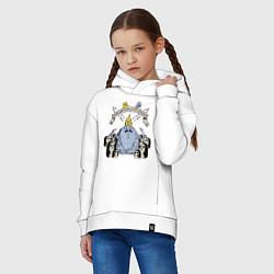 Толстовка оверсайз детская Ледяной Король Ice King цвета белый — фото 2