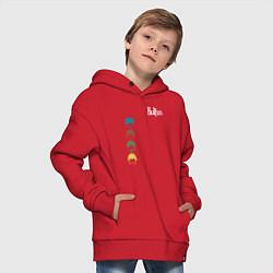 Толстовка оверсайз детская Beatles цвета красный — фото 2