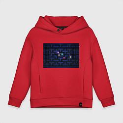 Толстовка оверсайз детская Pacman цвета красный — фото 1