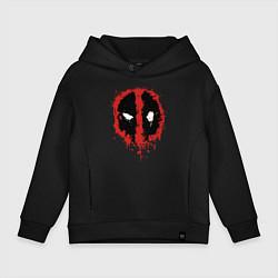 Толстовка оверсайз детская Deadpool logo цвета черный — фото 1